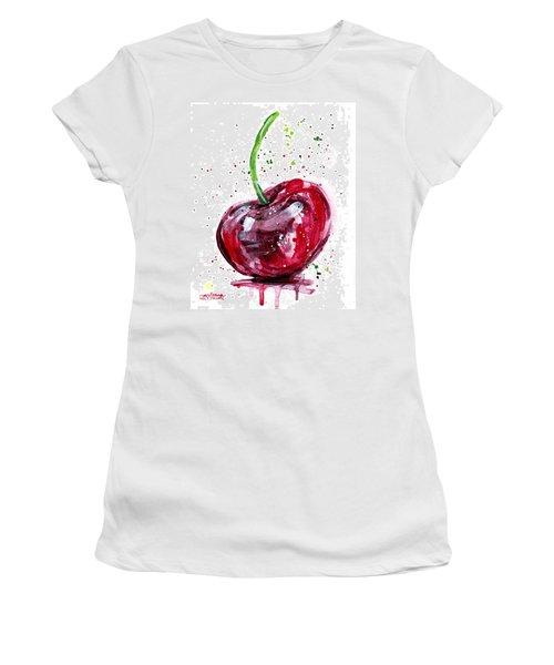 Cherry 2 Women's T-Shirt (Junior Cut) by Arleana Holtzmann