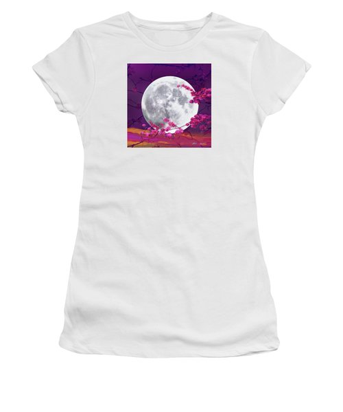 Cherry Moon  Women's T-Shirt (Athletic Fit)