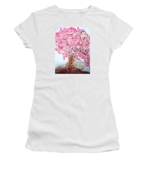 Cherry Tree By Colleen Ranney Women's T-Shirt (Athletic Fit)