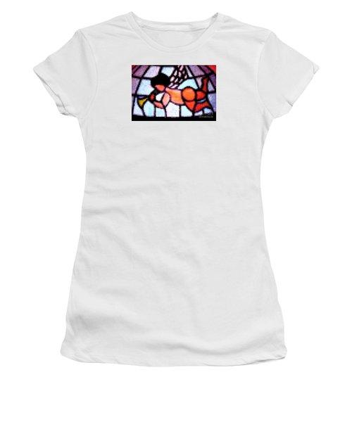 Women's T-Shirt (Junior Cut) featuring the photograph Cherub Art  by Juls Adams