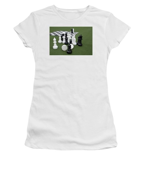 Chess Pieces Women's T-Shirt (Athletic Fit)
