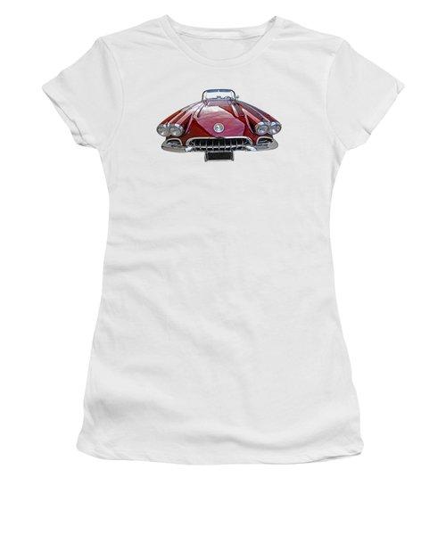 Chevrolet Corvette C1 1958 Head On Women's T-Shirt (Athletic Fit)