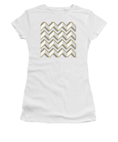 Chevrons - Gold Edges Women's T-Shirt