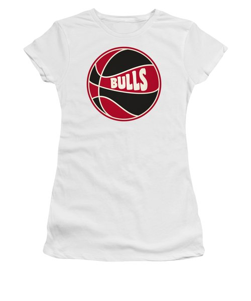 Women's T-Shirt (Junior Cut) featuring the photograph Chicago Bulls Retro Shirt by Joe Hamilton