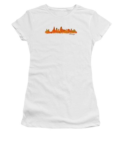 Chicago City Skyline Hq V2 Women's T-Shirt