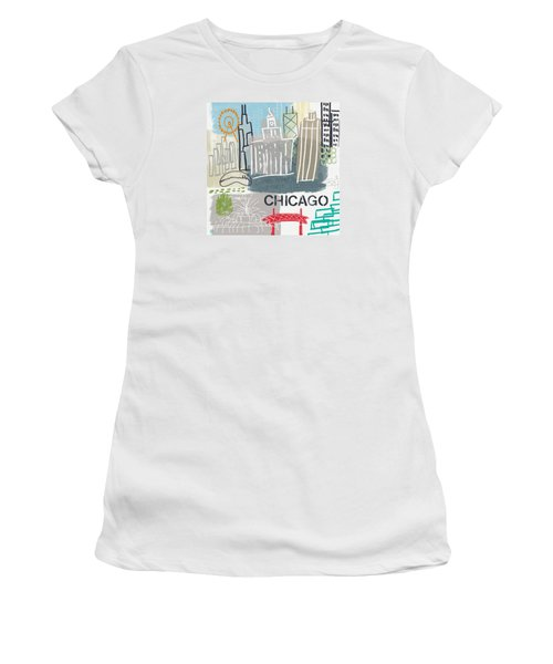 Chicago Cityscape- Art By Linda Woods Women's T-Shirt