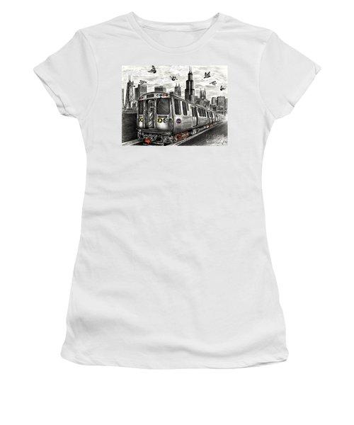 Chicago Cta Train Women's T-Shirt (Athletic Fit)