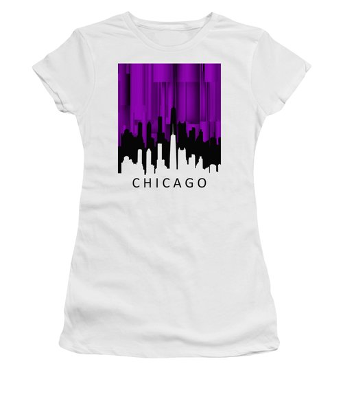 Chicago Violet Vertical  Women's T-Shirt (Junior Cut) by Alberto RuiZ