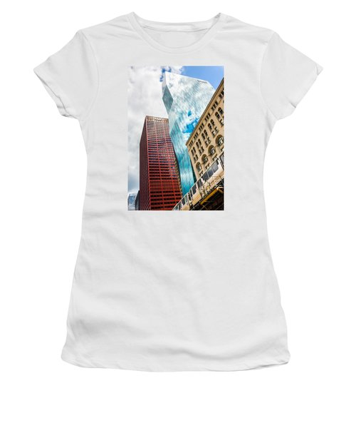Chicago's South Wabash Avenue  Women's T-Shirt (Athletic Fit)