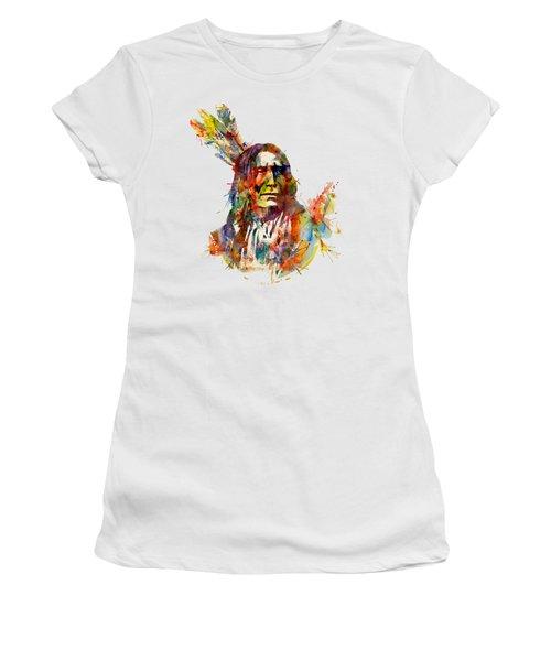 Chief Mojo Watercolor Women's T-Shirt