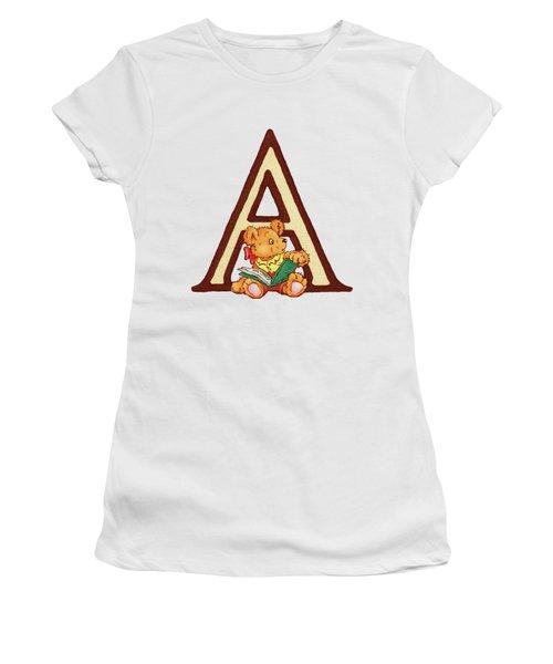 Children's Letter A Women's T-Shirt (Junior Cut) by Andrea Richardson
