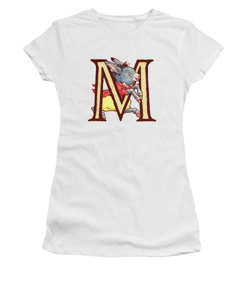Children's Letter M Women's T-Shirt (Junior Cut) by Andrea Richardson