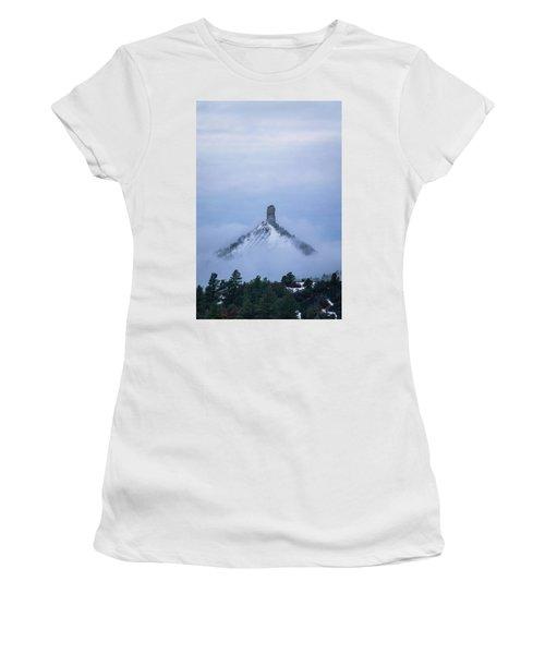 Chimney Rock Rising Women's T-Shirt (Athletic Fit)