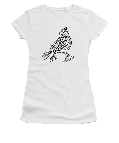 Chin Up Little Buttercup  Abstract Pollock Style On Paper Women's T-Shirt (Athletic Fit)
