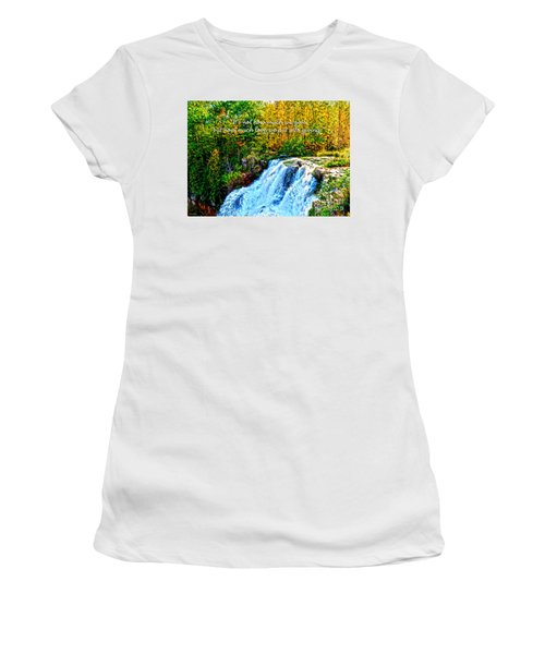 Chittenango Falls, Ny Mother Teresa  Women's T-Shirt (Junior Cut) by Diane E Berry