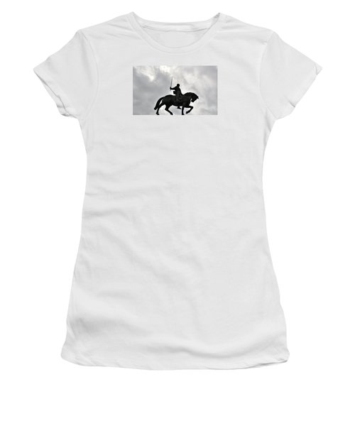 Women's T-Shirt (Junior Cut) featuring the photograph Chivalry by Marwan Khoury