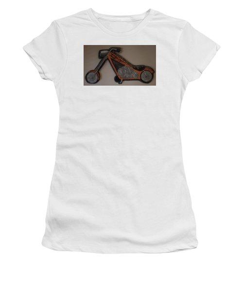 Chopper2 Women's T-Shirt (Junior Cut) by Val Oconnor