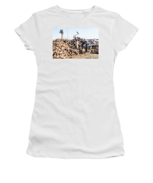 Chopping Wood Women's T-Shirt