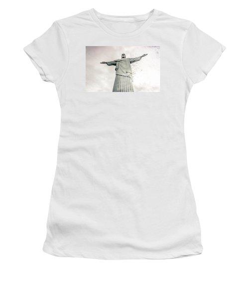 Christ The Redeemer Women's T-Shirt (Junior Cut) by Andrew Matwijec