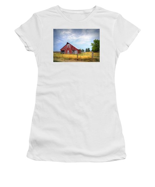 Christian School Road Barn Women's T-Shirt (Athletic Fit)