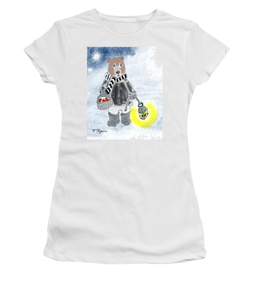 Christmas Bear Women's T-Shirt (Athletic Fit)