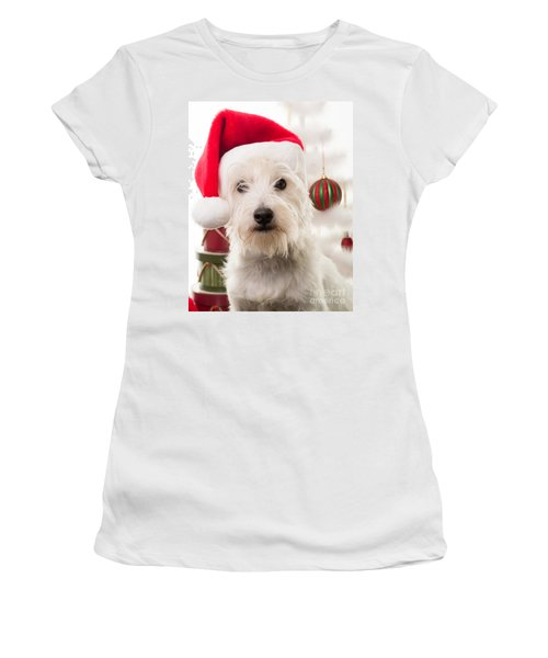 Christmas Elf Dog Women's T-Shirt