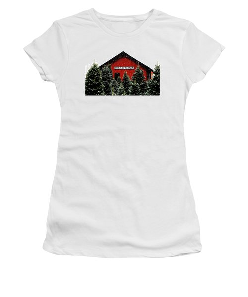 Christmas Town Women's T-Shirt (Athletic Fit)