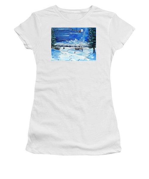 Christmas Wonderland Women's T-Shirt (Athletic Fit)