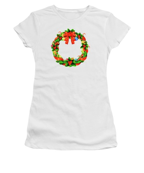 Christmas Wreath Women's T-Shirt