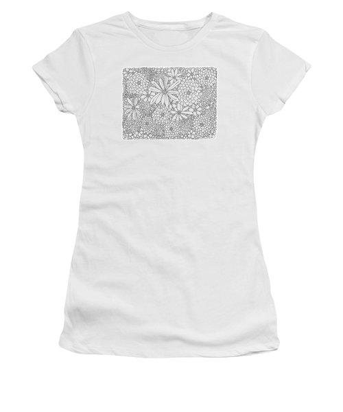 Chrysanthemums And Daisies Living In Harmony Horizontal Women's T-Shirt