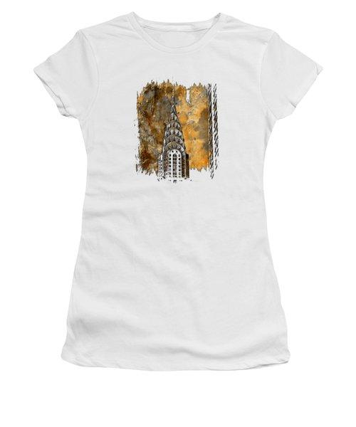 Chrysler Spire Earthy 3 Dimensional Women's T-Shirt (Junior Cut) by Di Designs