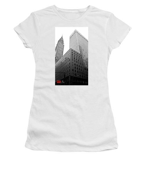 Chrystler Lofts Women's T-Shirt (Junior Cut) by Rennie RenWah