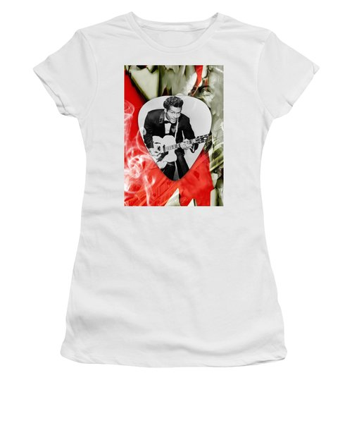 Chuck Berry Art Women's T-Shirt (Athletic Fit)