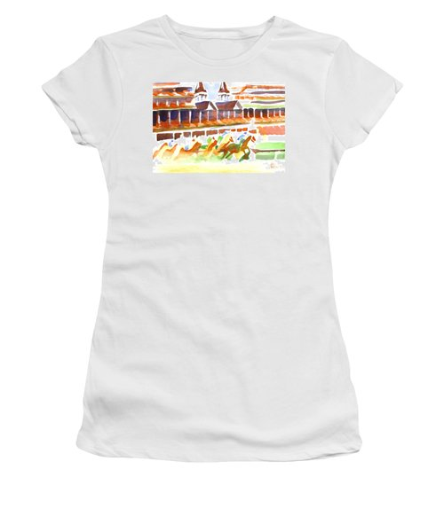 Churchill Downs Watercolor Women's T-Shirt