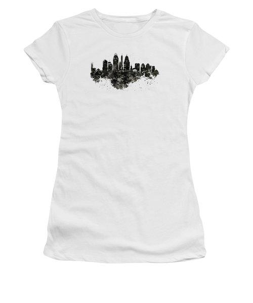 Cincinnati Skyline Black And White Women's T-Shirt