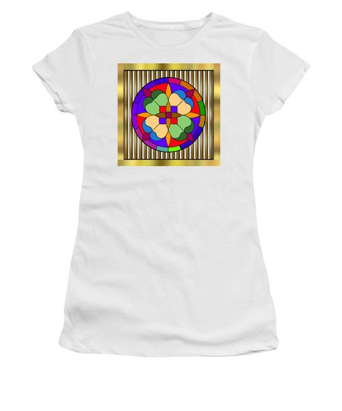 Circle On Bars 4 Women's T-Shirt (Athletic Fit)