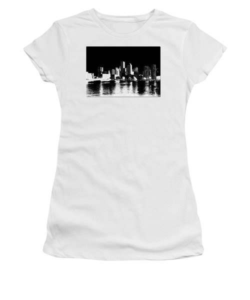 City Of Boston Skyline   Women's T-Shirt (Athletic Fit)
