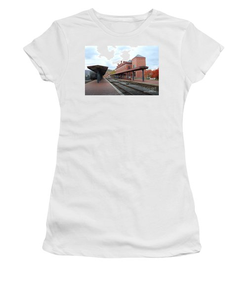Women's T-Shirt (Junior Cut) featuring the photograph City Station by Eric Liller