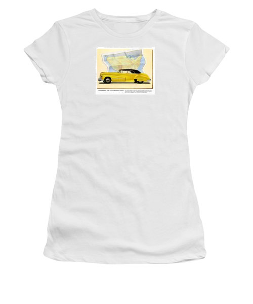 Classic Car Ads Women's T-Shirt (Athletic Fit)
