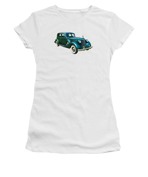 Classic Green Packard Luxury Automobile Women's T-Shirt (Junior Cut) by Keith Webber Jr