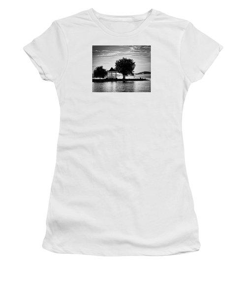 Claytor Lake Gazebo - Black And White Women's T-Shirt