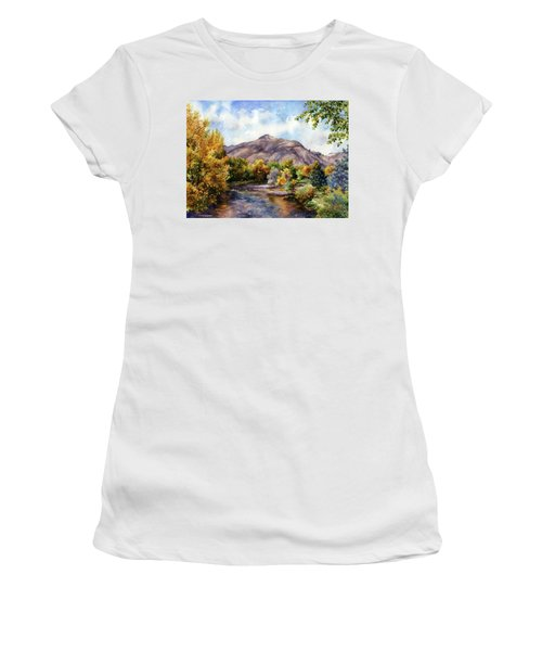 Women's T-Shirt (Junior Cut) featuring the painting Clear Creek by Anne Gifford