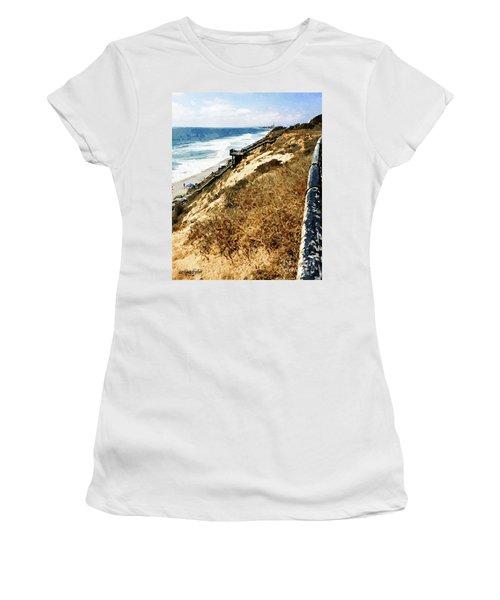 Cliff View - Carlsbad Ponto Beach Women's T-Shirt
