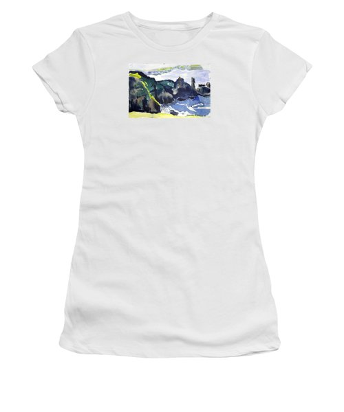 Cliffs In The Sea Women's T-Shirt (Athletic Fit)