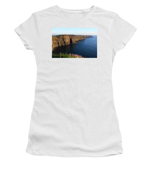 Cliffs Of Moher In Evening Light Women's T-Shirt (Junior Cut) by Aidan Moran