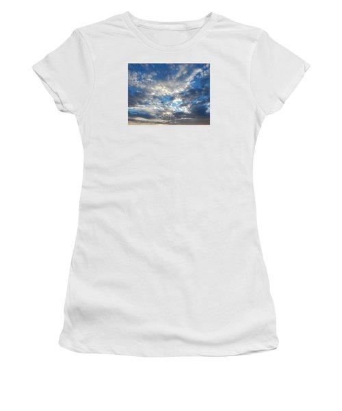 Clouds #4049 Women's T-Shirt (Junior Cut) by Barbara Tristan