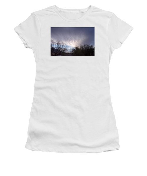 Clouds In Desert Women's T-Shirt (Junior Cut) by Mordecai Colodner