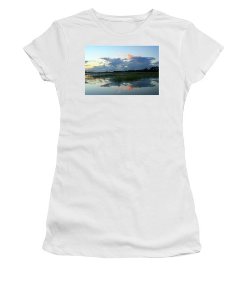 Clouds Over Marsh Women's T-Shirt (Junior Cut) by Patricia Schaefer