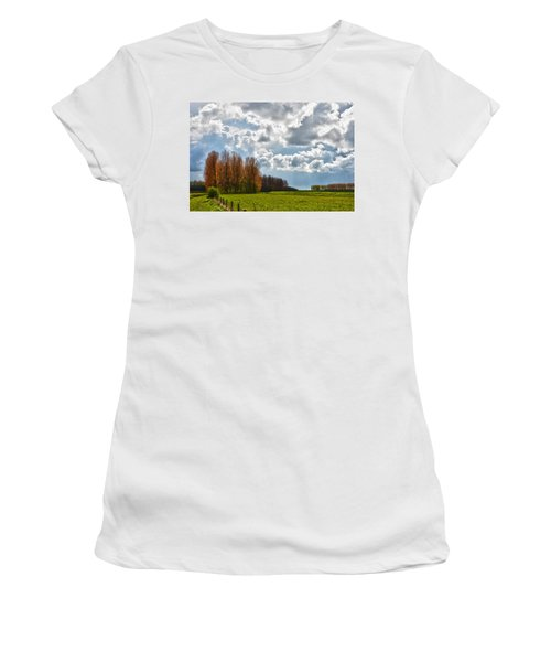 Clouds Over Voorne Women's T-Shirt (Athletic Fit)