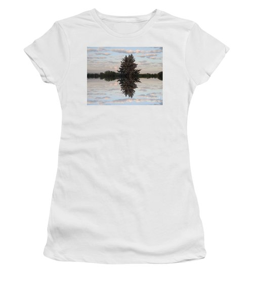 Clouds Up And Down Women's T-Shirt (Junior Cut) by Christina Verdgeline